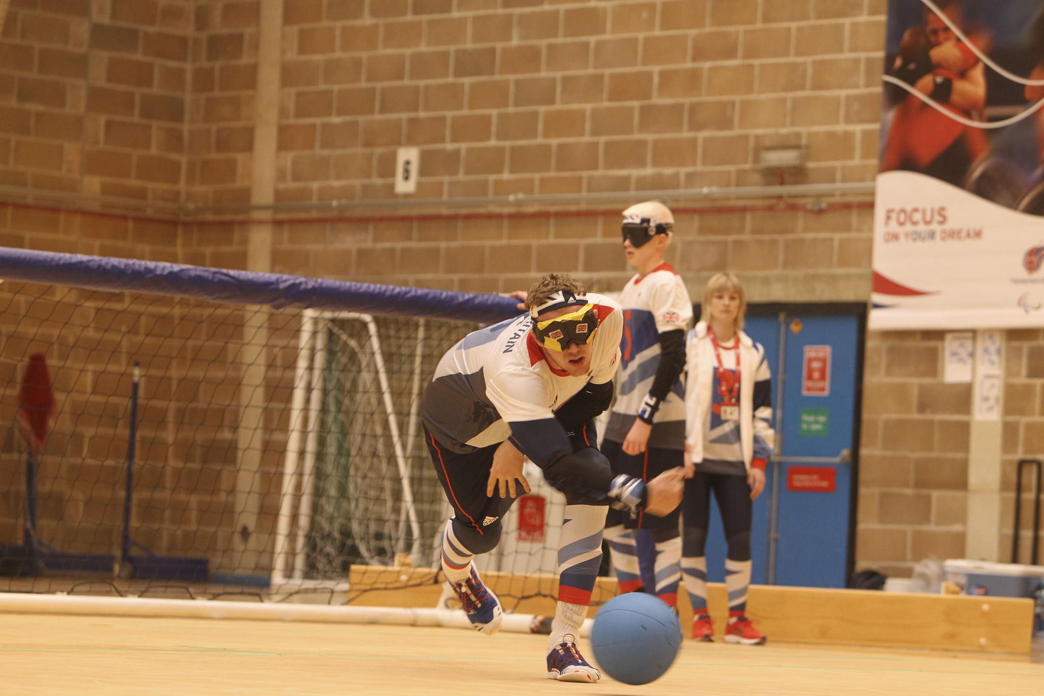 Photo of a man playing Goalball